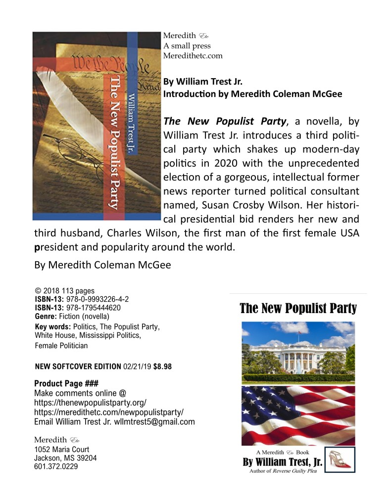 New Populist Party softcover product page